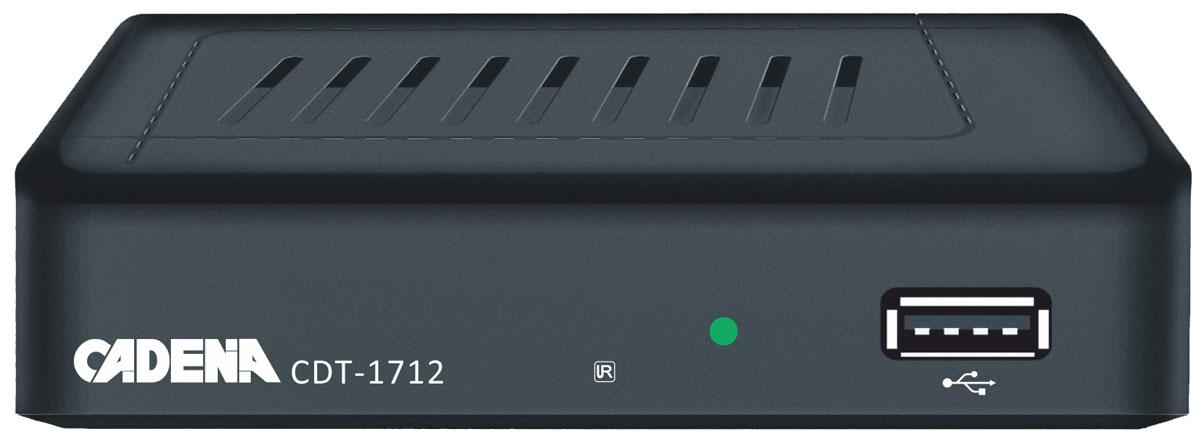 Cadena CDT-1712, Black цифровой ТВ ресивер - ТВ-ресиверы