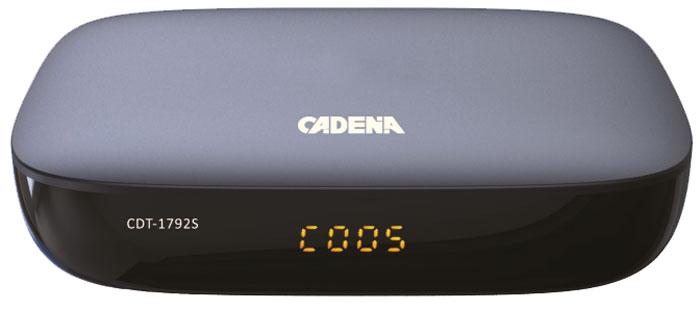Cadena CDT-1792S, Black цифровой ТВ ресивер цифрова�� тв приставка cadena cdt 1792s black
