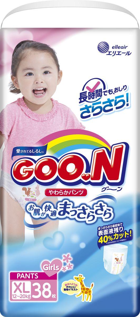 GOON Подгузники-трусики для девочек 12-20 кг 38 шт