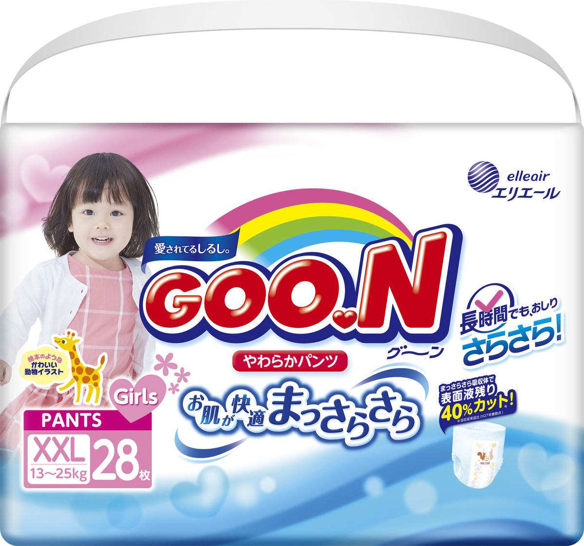 GOON Подгузники-трусики для девочек 13-25 кг, 28 шт goon трусики подгузники 13 25 кг 28 шт