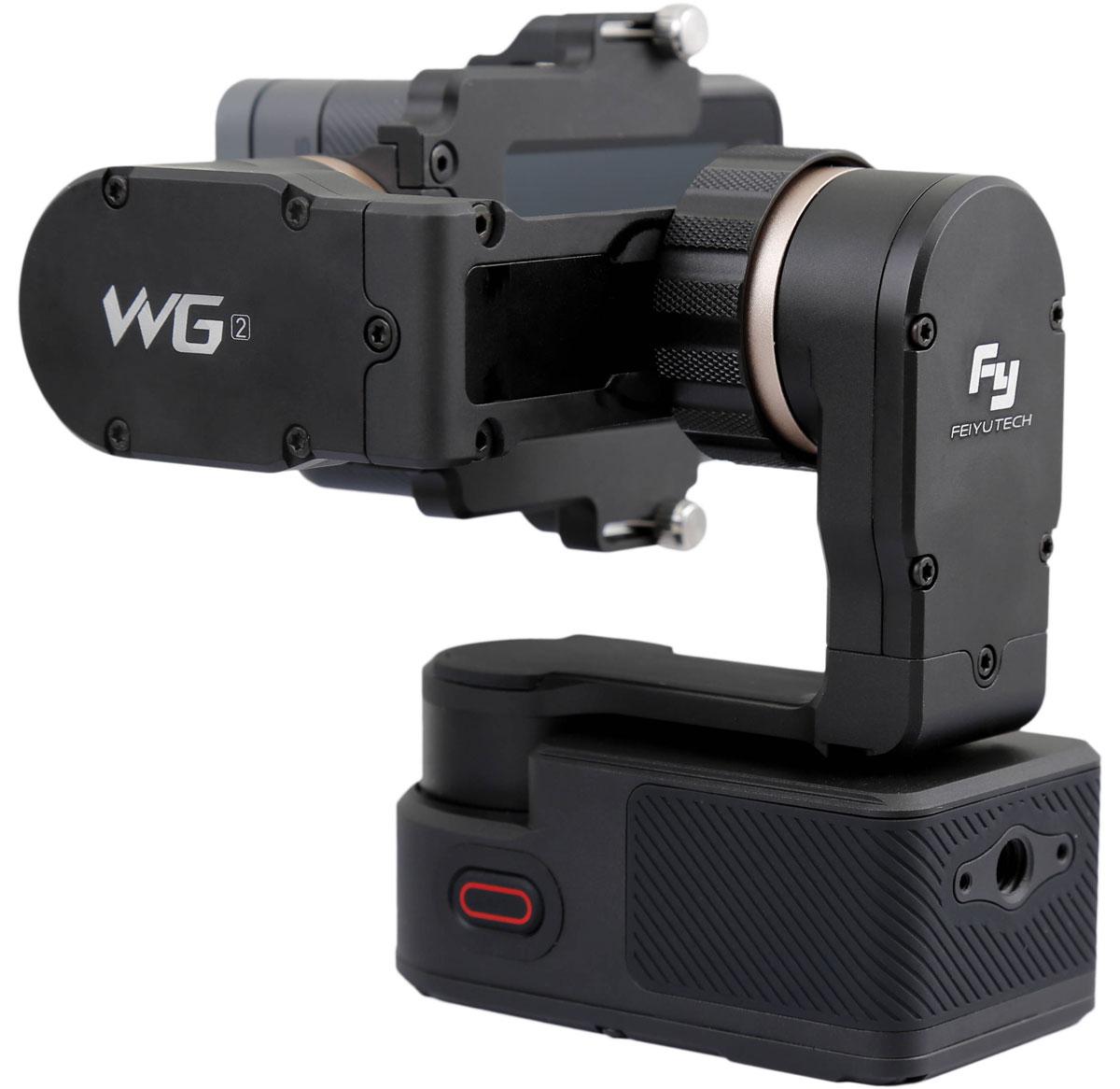 Feiyu Tech WG2, Black трехосевой стабилизаторWG2Водонепроницаемый трехосевой стабилизатор Feiyu Tech WG2 предлагает больше возможностей для создания фотоснимков.Благодаря революционному дизайну и сверхточному механизму WG2 может быть использован в различных ситуациях: во время дождя, попадании капель влаги и даже под водой, на глубине до 0.5 м, что удобно во время подводного плавания, серфинга или съемок в дождливый день. Данная модель имеет облегченную конструкцию, уникальный дизайн и содержит оптимизированные электродвигатели без щеток с высокой мощностью и низким потреблением энергии