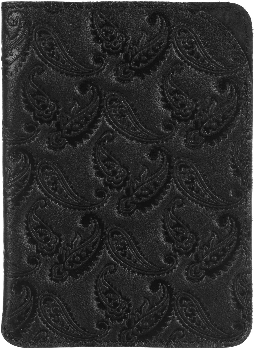 Обложка для паспорта Paolo Veronese, цвет: черный. O059-A04-20Натуральная кожаЧехол для паспорта Paolo Veronese в форме кармана, из натуральной кожи, с краем в обрезку. Горизонтальное тиснение Passport. Размеры (XxYxZ): 100х141х3