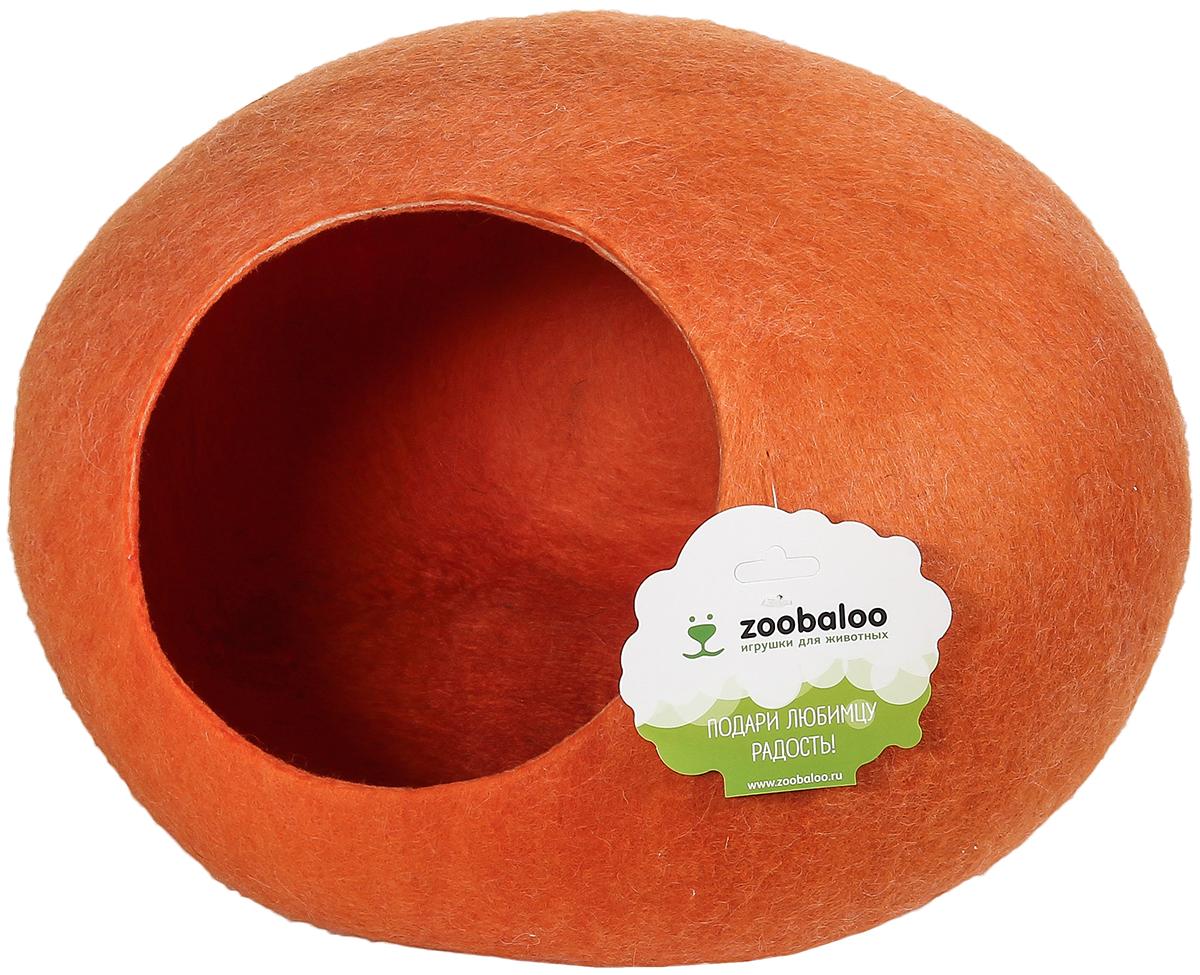 Домик-слипер для животных Zoobaloo WoolPetHouse, цвет: оранжевый, размер L966Домик-слипер WoolPetHouse предназначен для отдыха и сна питомца. Домик изготовлен из 100% шерсти мериноса. Это невероятное творение дизайнеров обещает быть хитом сезона! Производитель учел все особенности животного сна: форма, цвет, материал этих домиков - всё подобрано как нельзя лучше! В них ваши любимцы будут видеть только цветные сны. Шерсть мериноса обеспечит превосходный микроклимат внутри домика, а его форма позволит питомцу засыпать в самой естественной позе.