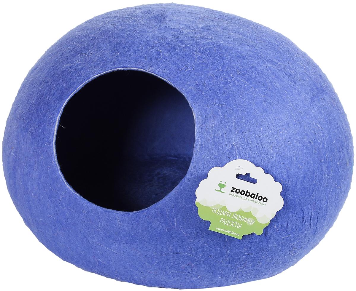Домик-слипер для животных Zoobaloo WoolPetHouse, цвет: синий, размер S домик слипер для животных zoobaloo woolpethouse с ушками цвет оранжевый размер m
