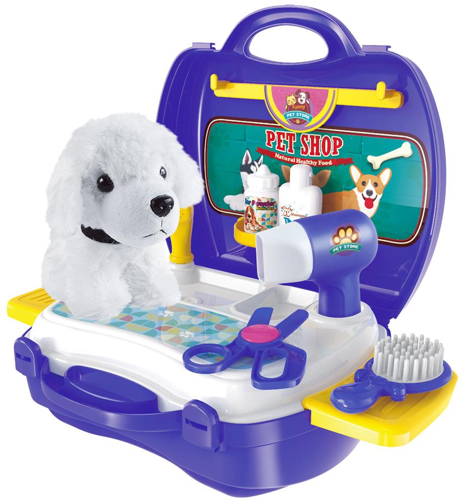 Ami&Co Игровой набор Парикмахерская для животных в чемодане с собачкой