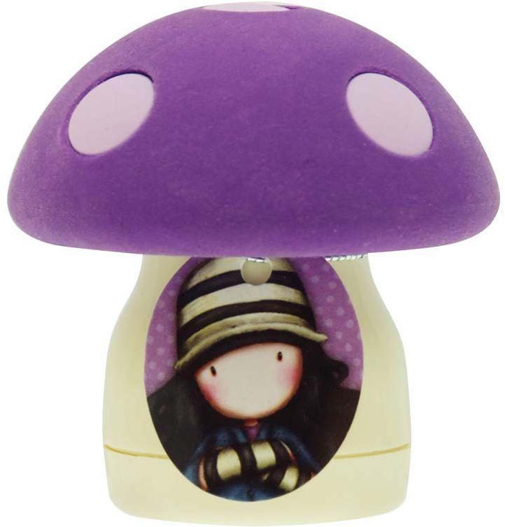 Santoro Точилка-ластик Toadstools Purple цвет фиолетовый0012636Отличный аксессуар, который поможет вам в школе или на работе!Крышка-ластик отделяется для удобного использования; внутри точилка для карандашей со съемным отсеком для стружек.