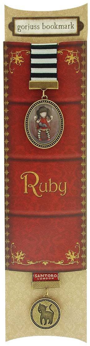 Santoro London Закладка Chronicles-Ruby -  Канцтовары и организация рабочего места