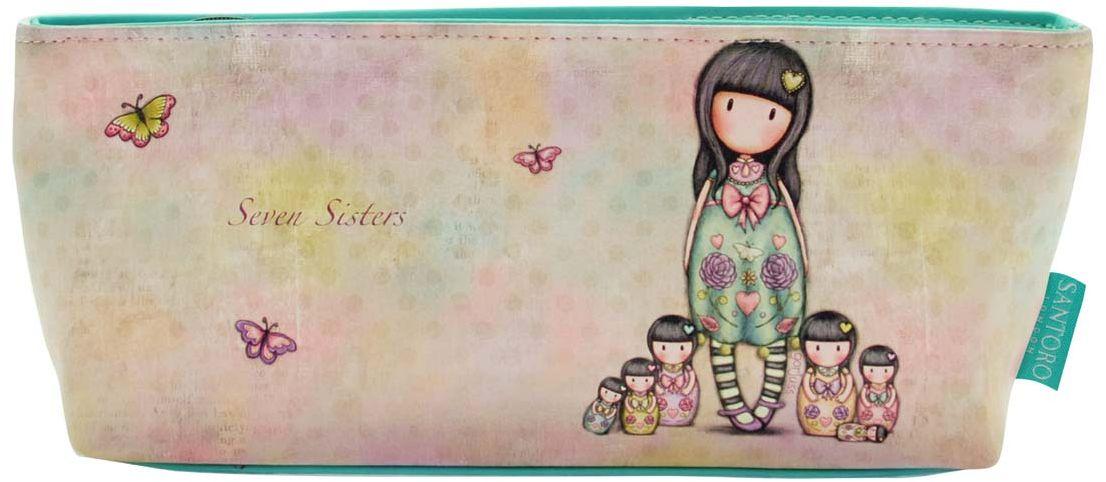 Santoro Пенал для аксессуаров Seven Sisters0013112Милый пенал с девочкой Gorjuss для хранения своих канцелярских принадлежностей!Каждый пенал выполнен вручную.