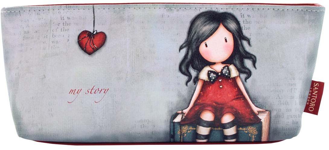 Santoro Пенал для аксессуаров My Story0013115Милый пенал с девочкой Gorjuss для хранения своих канцелярских принадлежностей!Каждый пенал выполнен вручную.