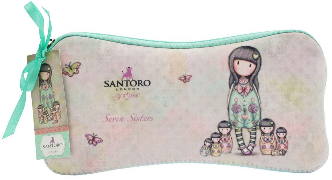 Santoro Пенал Seven Sisters0013120Милый пенал с девочкой Gorjuss для хранения своих канцелярских принадлежностей!Каждый пенал выполнен вручную.