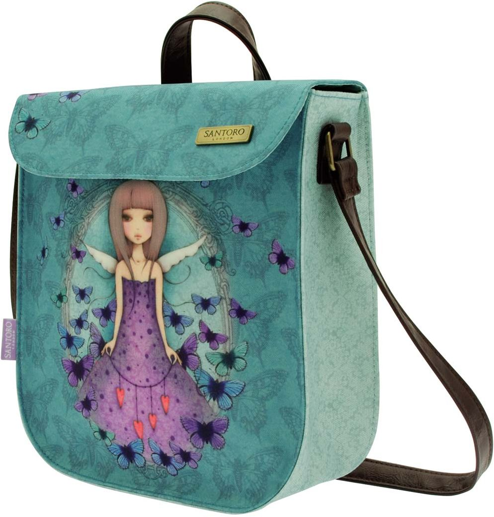 Santoro Сумка детская Butterfly0013284Стильная и утонченная сумочка для выходов в свет!Закрывается на кнопку, внутри есть дополнительное отделение на молнии.Каждая сумка выполнена вручную.