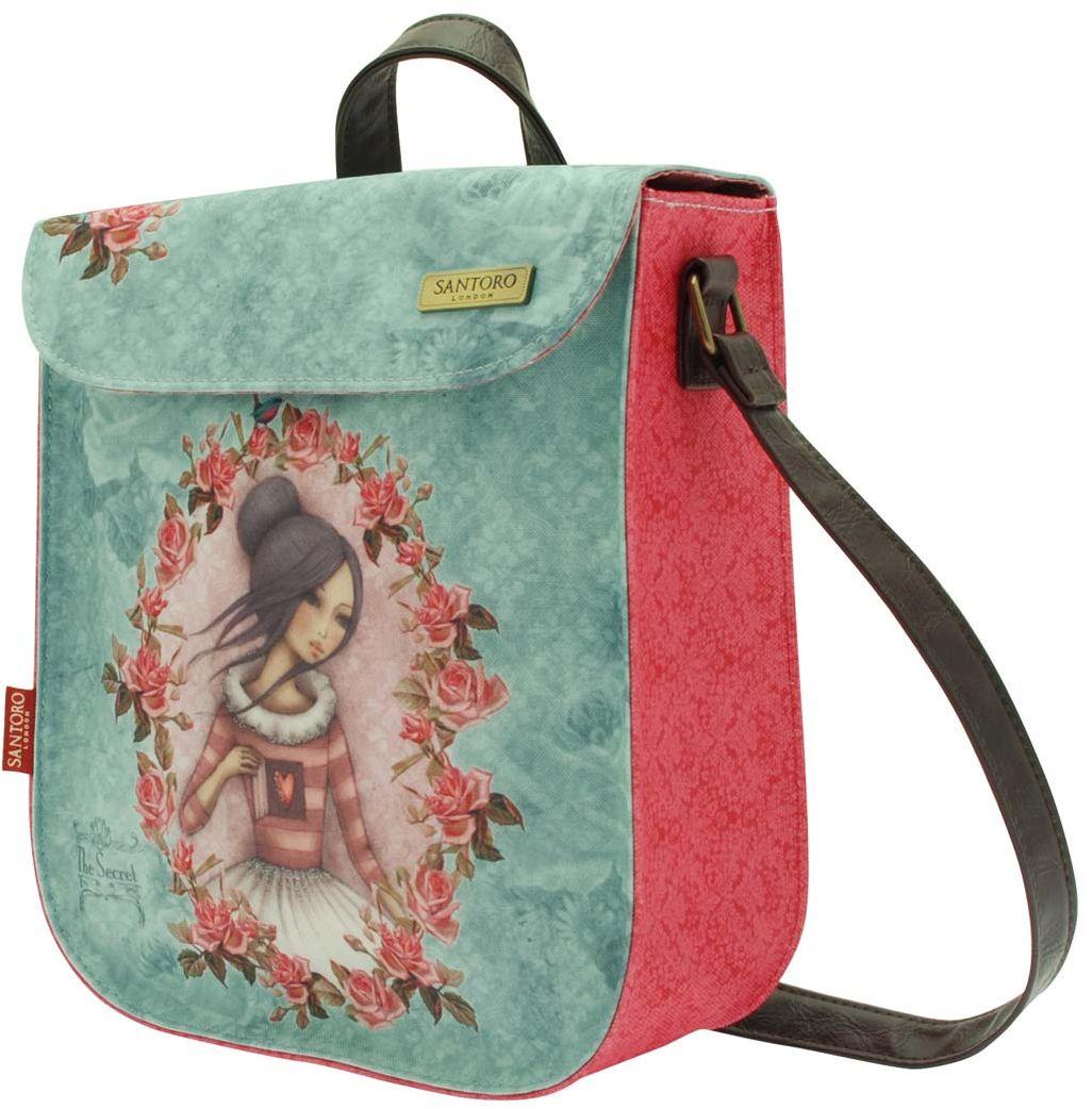 Santoro Сумка детская The Secret0013285Стильная и утонченная сумочка для выходов в свет!Закрывается на кнопку, внутри есть дополнительное отделение на молнии.Каждая сумка выполнена вручную.