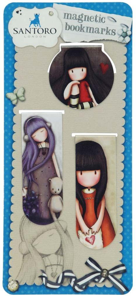 Santoro Закладка магнитная Set  Dear Alice, I Gave You My Heart & The Collector 2 шт -  Закладки для книг
