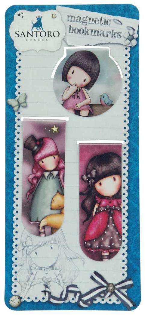 Santoro Закладка магнитная Set - The Dreamer, Bluebirds Proposal & Ladybird 2 шт0098030Отметьте свое путешествие по литературному миру магнитными закладками Santoro!Набор состоит из двух длинных закладок (длина 7 см) и одной круглой (4 см).