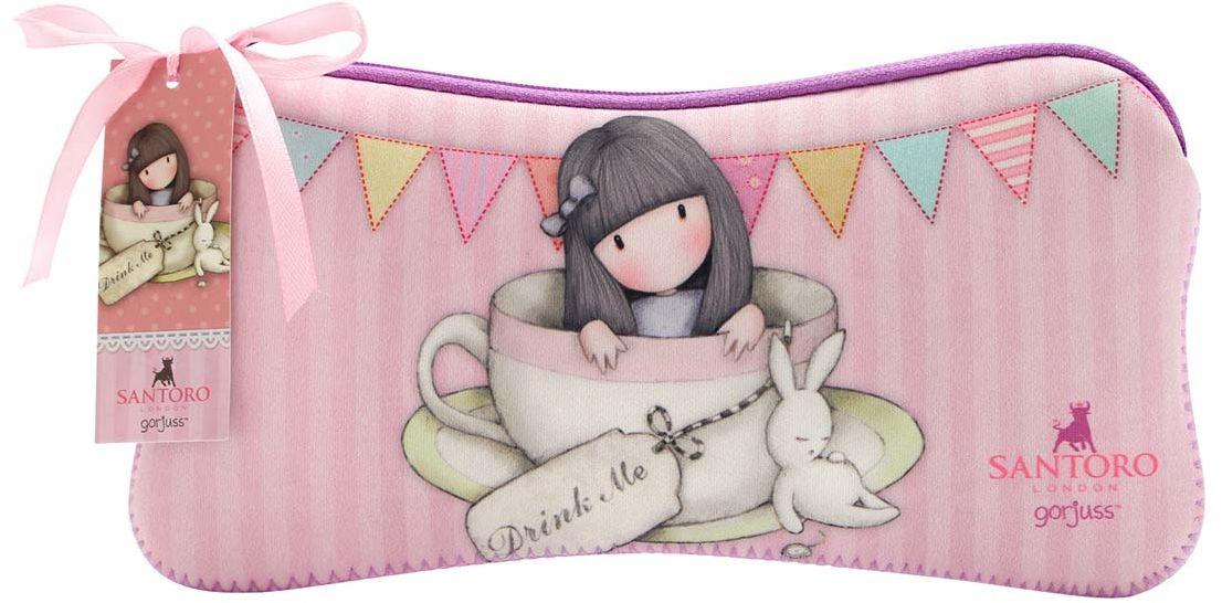 Santoro Пенал Sweet Tea271GJ18Милый пенал с девочкой Gorjuss для хранения своих канцелярских принадлежностей! Каждый пенал выполнен вручную.