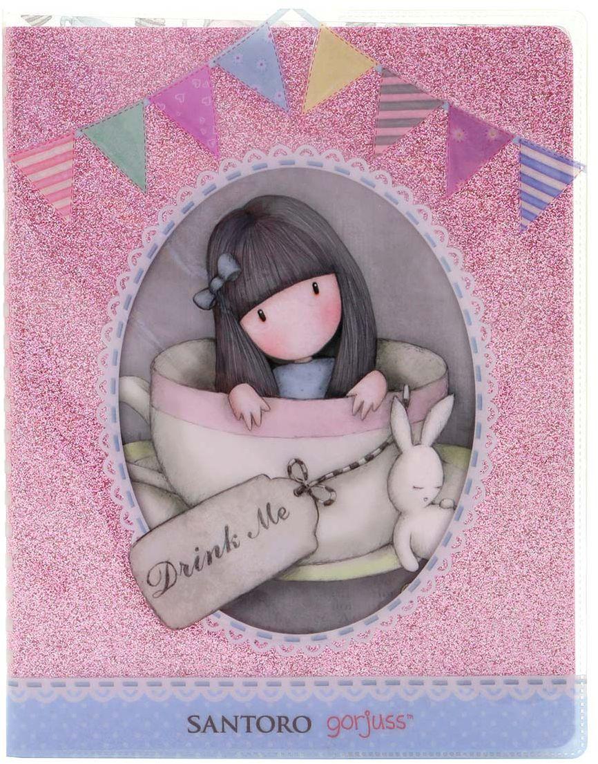 Santoro Тетрадь Sweet Tea 156 листов в линейку742GJ01Прекрасная тетрадь с девочкой Gorjuss в блестящей обложке идеально подойдет для записи своих секретов и мыслей!В тетради 156 листов.