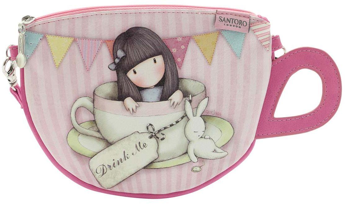 Santoro London Сумка детская Sweet Tea747GJ01Восхитительная сумочка в форме чашки от Santoro London, которая отлично подойдет для хранения ваших аксессуаров!Сумка выполнена вручную.