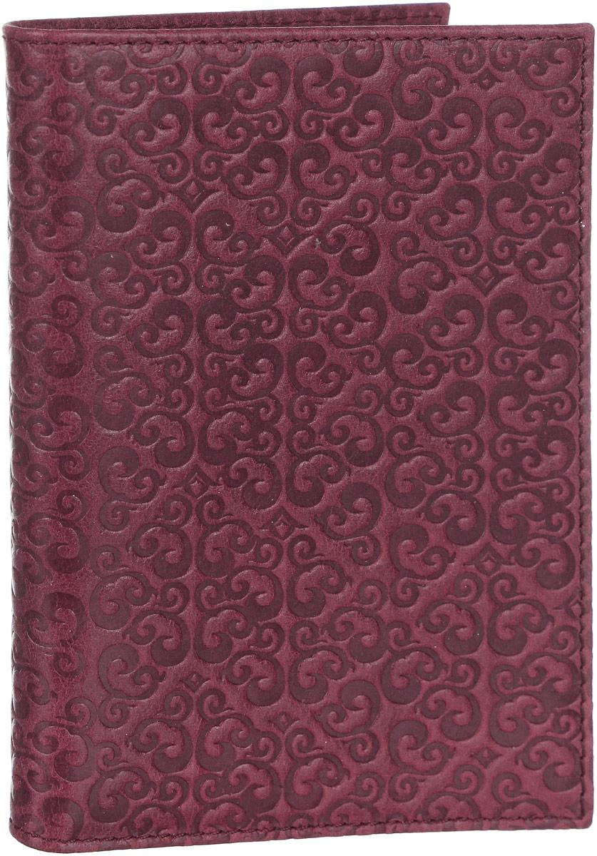 Обложка для паспорта женская Paolo Veronese, цвет: бордовый. O057-A00-12Натуральная кожаОбложка для паспорта Paolo Veronese, из натуральной кожи с тиснением. С карманами из пластика. Размеры (XxYxZ): 97х138х4