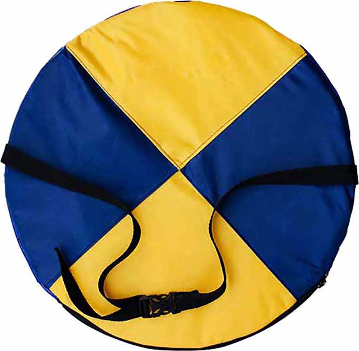 """Ледянка мягкая Эх, Прокачу! """"Эконом-40"""", цвет: синий, желтый, 35 см"""
