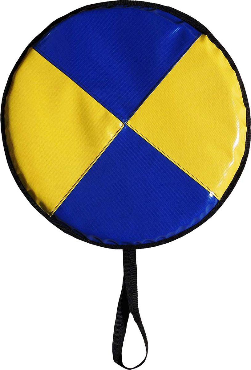 """Ледянка мягкая Эх, Прокачу! """"Эконом-20"""", цвет: синий, желтый, 45 см"""