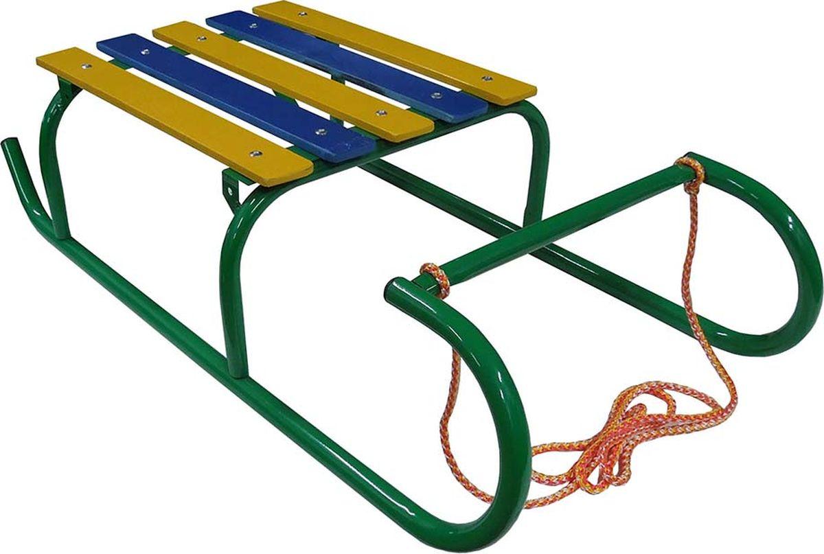 Санки детские Эх, Прокачу! Кроха-2 без спинки и ручки, цвет: зеленый, 70 x 35 x 17 смСК-2ЗСанки детские Эх, Прокачу! Кроха-2 - качественный бюджетный вариант детских санок для детей до 5 лет. Особенности:Реечное сиденье из толстой обработанной фанеры Сварная рама из трубы 18 ммВозможность дополнительной установки съемной спинкиВеревкаПорошковая окраска и предокрасочная обработка Нагрузка до 50 кг Вес санок не более 2 кг