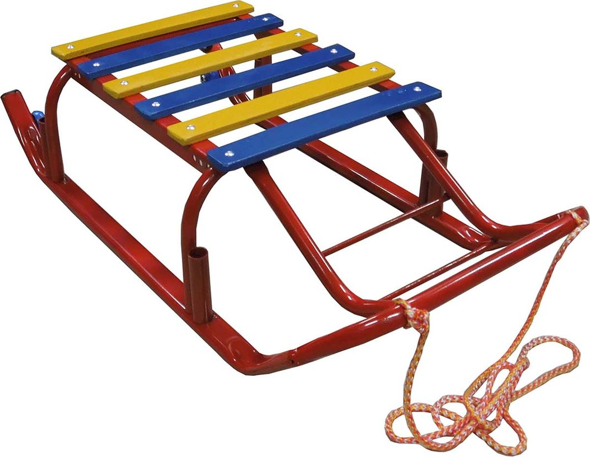 """Санки детские Эх, Прокачу! """"Лидер-3"""", с колесиками, цвет: красный, 75 x 35 x 17 см"""