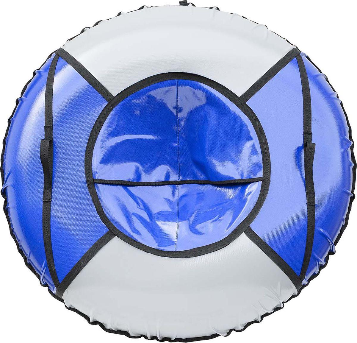 Тюбинг Эх, Прокачу! Профи-4, цвет: серый, синий, 100 смСП100-4-4Качественные бюджетные санки-ватрушки для катания по снегу из 4 секций * размеры указаны в надутом состоянии * дно изготовлено из ткани ПВХ 630г/м2 * верх изготовлен из ткани ПВХ 630гр/м2 * камера российского производства * буксировочный ремень * морозоустойчивость -45 * допускается деформация формы санок из-за неравномерности надутия камеры