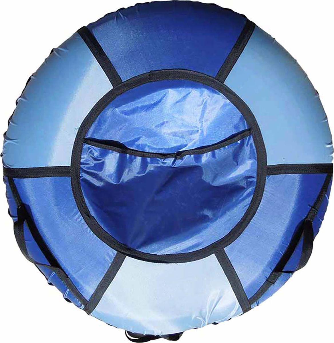 Тюбинг Эх, Прокачу! Профи-6, цвет: серый, синий, 70 смСП70-6-4Качественные бюджетные санки-ватрушки для катания по снегу из 6 секций * размеры указаны в надутом состоянии * дно изготовлено из ткани ПВХ 630г/м2 * верх изготовлен из ткани ПВХ 630гр/м2 * камера российского производства * буксировочный ремень * морозоустойчивость -45 * допускается деформация формы санок из-за неравномерности надутия камеры