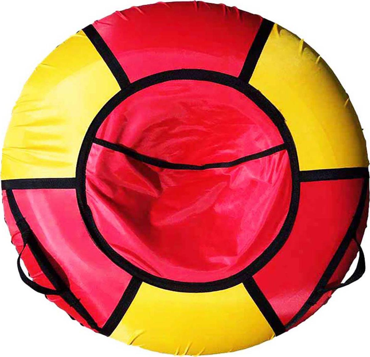 Тюбинг Эх, Прокачу! Эконом-6, цвет: красный, желтый, диаметр 70 смСЭ70-6-1Любимая детская зимняя забава - это кататься с горки. А катание на тюбинге Эх, Прокачу! Эконом-6 надолго запомнится вам и вашим близким. Свежий воздух, веселая компания, веселые развлечения - эти моменты вы будете вспоминать еще долгое время. Специальные материалы и уникальная конструкция днища превосходно скользят, даже если снега совсем немного. Высокая прочность позволит весело проводить время детям и взрослым, не заботясь о поломках. Модель очень вместительная, возможность соскальзывания практически исключена.Особенности: Материал дна - ткань ПВХ, плотность 630 г/м2.Материал верха - ткань Oxford, плотность 420 г/м2. Диаметр в надутом виде - 70 см.Морозоустойчивость - до -45 градусов.Камера российского производства, буксировочный ремень. Тюбинг не предназначен для буксировки механическими или транспортными средствами (подъемники, канатные дороги, лебедки, автомобиль, снегоход, квадроцикл и т.д.).Допускается деформация формы санок из-за неравномерности надувания камеры.