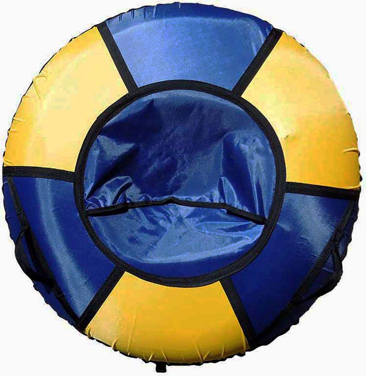 Тюбинг Эх, Прокачу! Эконом-6, цвет: синий, желтый, диаметр 70 смСЭ70-6-2Любимая детская зимняя забава - это кататься с горки. А катание на тюбинге Эх, Прокачу! Эконом-6 надолго запомнится вам и вашим близким. Свежий воздух, веселая компания, веселые развлечения - эти моменты вы будете вспоминать еще долгое время. Специальные материалы и уникальная конструкция днища превосходно скользят, даже если снега совсем немного. Высокая прочность позволит весело проводить время детям и взрослым, не заботясь о поломках. Модель очень вместительная, возможность соскальзывания практически исключена.Особенности: Материал дна - ткань ПВХ, плотность 630 г/м2.Материал верха - ткань Oxford, плотность 420 г/м2. Диаметр в надутом виде - 70 см.Морозоустойчивость - до -45 градусов.Камера российского производства, буксировочный ремень. Тюбинг не предназначен для буксировки механическими или транспортными средствами (подъемники, канатные дороги, лебедки, автомобиль, снегоход, квадроцикл и т.д.).Допускается деформация формы санок из-за неравномерности надувания камеры.