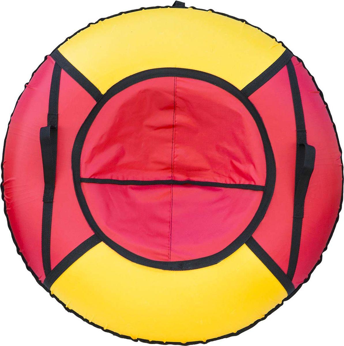 Тюбинг Эх, Прокачу! Эконом-4, цвет: красный, желтый, диаметр 85 смСЭ85-4-1Любимая детская зимняя забава - это кататься с горки. А катание на тюбинге Эх, Прокачу! Эконом-4 надолго запомнится вам и вашим близким. Свежий воздух, веселая компания, веселые развлечения - эти моменты вы будете вспоминать еще долгое время. Специальные материалы и уникальная конструкция днища превосходно скользят, даже если снега совсем немного. Высокая прочность позволит весело проводить время детям и взрослым, не заботясь о поломках. Модель очень вместительная, возможность соскальзывания практически исключена.Особенности: Материал дна - ткань ПВХ, плотность 630 г/м2.Материал верха - ткань Oxford, плотность 420 г/м2. Диаметр в надутом виде - 85 см.Морозоустойчивость - до -45 градусов.Камера российского производства, буксировочный ремень. Тюбинг не предназначен для буксировки механическими или транспортными средствами (подъемники, канатные дороги, лебедки, автомобиль, снегоход, квадроцикл и т.д.).Допускается деформация формы санок из-за неравномерности надувания камеры.