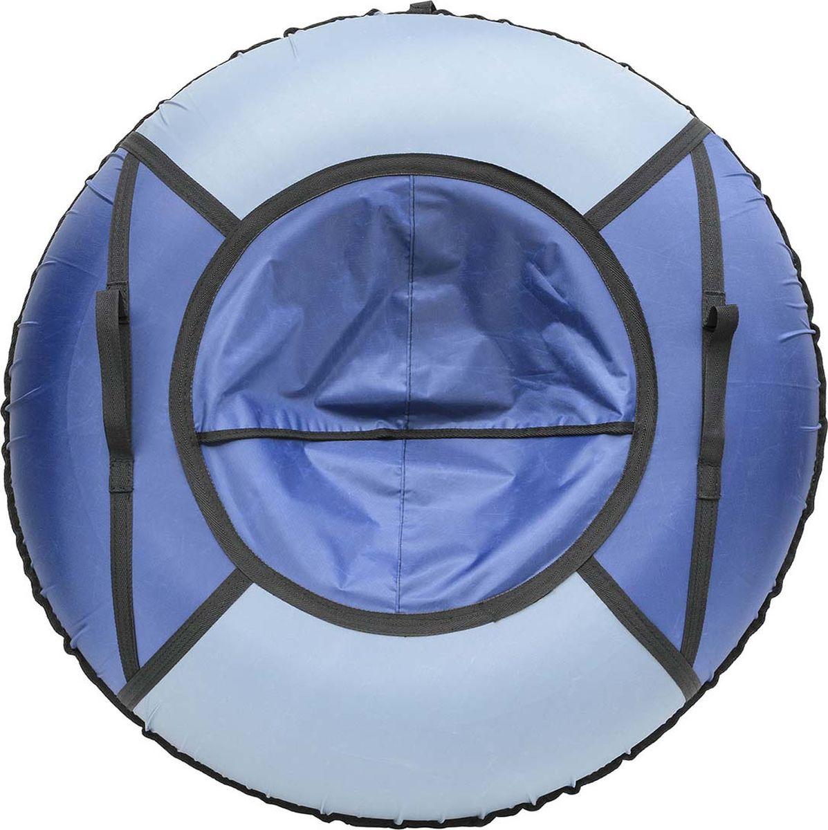 Тюбинг Эх, Прокачу! Эконом-4, цвет: серый, синий, 85 смСЭ85-4-4Качественные бюджетные санки-ватрушки для катания по снегу из 4 секций * размеры указаны в надутом состоянии * дно изготовлено из ткани ПВХ 630г/м2 * верх изготовлен из ткани Oxford 420гр/м2 * камера российского производства * буксировочный ремень * морозоустойчивость -45 * допускается деформация формы санок из-за неравномерности надутия камеры