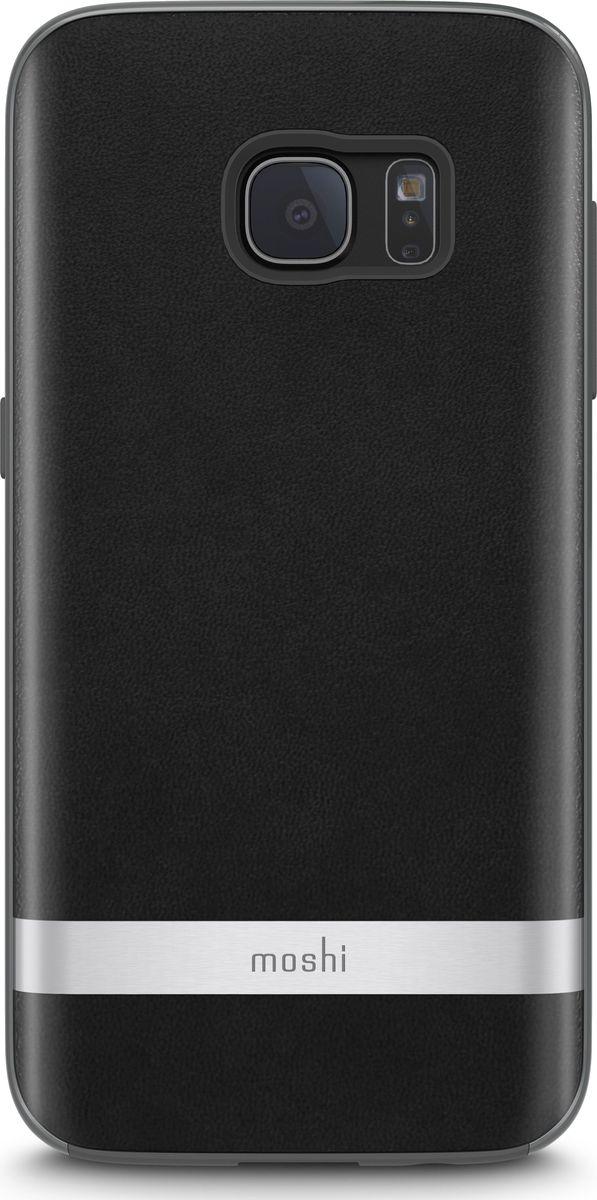 Moshi Napa кейс для Galaxy S7, Black99MO058005Благодаря используемым в производстве материалам высочайшего качества, Napa обеспечивает максимальный уровень защиты и подчёркивает элегантность Вашего устройства. Чехол обладает гибридной конструкцией нашей собственной разработки: ударопоглощающая рамка внутри и небьющаяся оболочка снаружи. Эта конструкция надежно защищает устройство при ударах и падениях. Napa, изготовленная из веган кожи с алюминиевой вставкой, изысканна и элегантна. Это прекрасный выбор для тех, кто стремится обеспечить наилучший уровень безопасности для своего устройства.ХарактеристикиВеган кожа премиум класса с алюминиевой вставкой.Гибридная конструкция, защищающая устройство от ударов и падений.Уровень защиты, соответствующий оборонным стандартам США (MIL-STD-810G, сертифицировано SGS).Приподнятые края чехла позволяют безопасно класть телефон экраном вниз.