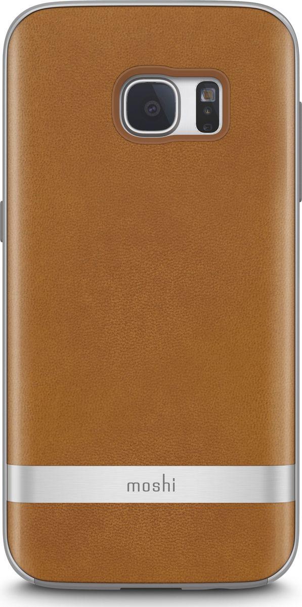 Moshi Napa кейс для Galaxy S7, Beige99MO058711Благодаря используемым в производстве материалам высочайшего качества, Napa обеспечивает максимальный уровень защиты и подчёркивает элегантность Вашего устройства. Чехол обладает гибридной конструкцией нашей собственной разработки: ударопоглощающая рамка внутри и небьющаяся оболочка снаружи. Эта конструкция надежно защищает устройство при ударах и падениях. Napa, изготовленная из веган кожи с алюминиевой вставкой, изысканна и элегантна. Это прекрасный выбор для тех, кто стремится обеспечить наилучший уровень безопасности для своего устройства.ХарактеристикиВеган кожа премиум класса с алюминиевой вставкой.Гибридная конструкция, защищающая устройство от ударов и падений.Уровень защиты, соответствующий оборонным стандартам США (MIL-STD-810G, сертифицировано SGS).Приподнятые края чехла позволяют безопасно класть телефон экраном вниз.