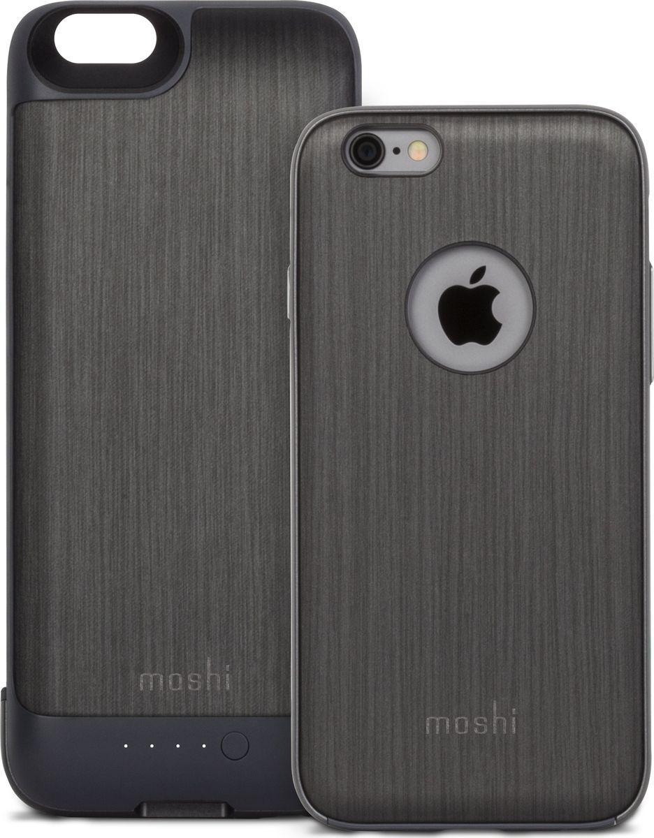 Moshi Ion чехол-аккумулятор для iPhone 6/6S, Black Steel (2750 мАч)99MO079003iGlaze Ion сочетает в себе мощность, защиту и эстетику в идеальном корпусе для вашего iPhone. Аккумулятор iGlaze Ion удваивает время автономной работы вашего iPhone, поэтому вы можете оставаться включенным и подключенным в течение всего дня. В отличие от большинства громоздких батарейных корпусов, iGlaze Ion имеет двухсекционный дизайн, который обеспечивает питание, когда вам это нужно, и тонкую защиту, когда вы этого не делаете. В самом корпусе представлена гибридная конструкция Moshi, состоящая из жесткого корпуса из поликарбоната, амортизирующей внутренней рамы и мягкой подкладки из микрофибры для обеспечения максимальной защиты от несчастных случаев. Вы также сможете быстро и надежно заряжать iPhone благодаря интеллектуальной схеме управления питанием. iGlaze Ion - это аккумуляторный корпус для пользователей, которые просто не будут жертвовать стилем для функциональности.ХарактеристикиДвухкомпонентный дизайн аккумуляторной батареи, тонкий и компактный.2,750 мАч энергии, чтобы удвоить время автономной работы вашего iPhone.Интеллектуальная схема управления питанием 2.1 Быстрая зарядка.Гибридная конструкция: амортизирующая рама и мягкая подкладка из микрофибры.Включает адаптер для наушников и кабель Micro USB.Совместимость с iGlaze Napa от Moshi.