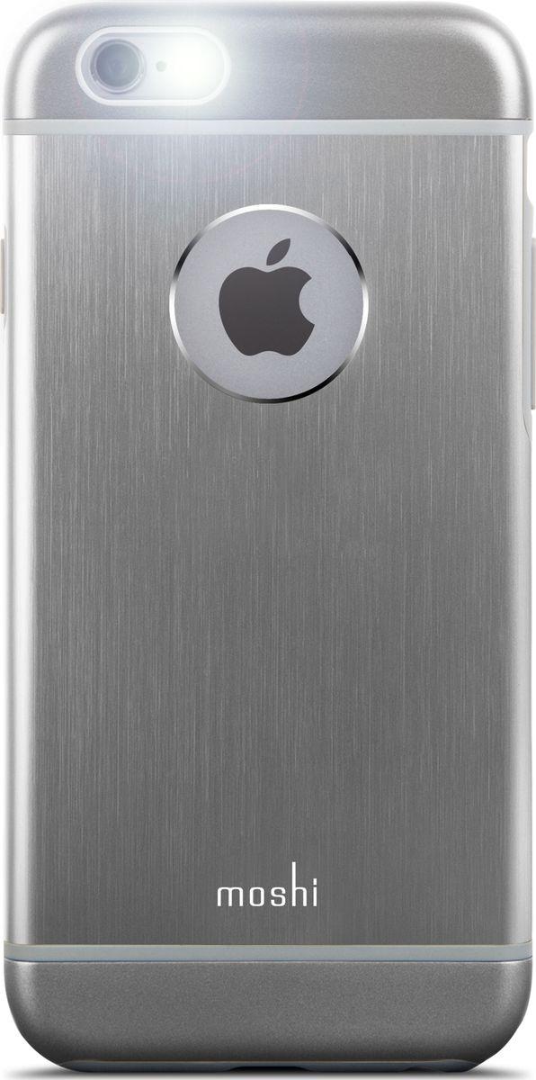 Moshi Armour чехол для iPhone 6/6S, Gray99MO079021Чехол Moshi iGlaze Armour выполненный из алюминия с алмазной огранкой в оболочке из поликарбоната. Он станет прекрасной защитой для Вашего iPhone 6/6s. Красивый и приятный на ощупь, он только подчеркнет все достоинства и преимущества дизайна Вашего гаджета. Завышенные края чехла обеспечивают безопасность экрана, когда iPhone лежит дисплеем вниз. Чехол повторяет все линии iPhone 6/6s в своей особой манере, при этом защищая заднюю часть корпуса и его боковые грани.ХарактеристикиСпециальная алюминиевая накладка с алмазной обработкой.Основной каркас чехла состоит из поликарбоната, который защищает находящийся внутри него телефон от ударов и повреждений.Полная защита кнопок регулировки громкости и управления питанием.Завышенные края чехла обеспечивают безопасность экрана, когда iPhone лежит дисплеем вниз.???Прошёл необходимые тестирования по защите устройства от различных видов воздействия.