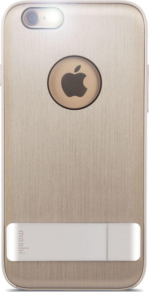 Moshi Kameleon чехол для iPhone 6/6S, Titanium99MO079202Утончённый чехол-подставка Moshi Kameleon для iPhone позволяет с удобством просматривать видео, одновременно обеспечивая стильную защиту устройства. Гибридная конструкция обеспечивает эффективную защиту от ударов и падений. Ещё более тонкая, чем прежде, алюминиевая подставка обеспечивает возможность устанавливать iPhone как в горизонтальном, так и вертикальном положении, что позволяет просматривать видео без помощи рук. Moshi Kameleon разработан для повседневного применения и идеален для потребителей, стремящихся к наилучшему сочетанию функциональности и защиты.