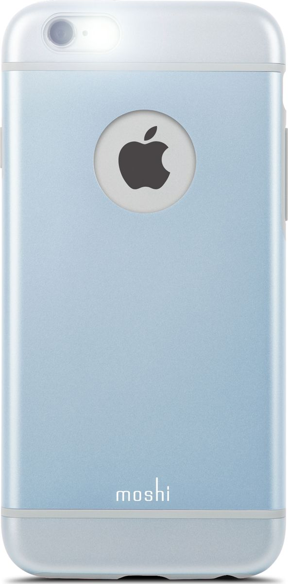 Moshi iGlaze чехол для iPhone 6/6S, Arctic Blue клип кейс moshi iglaze для apple iphone 6 6s
