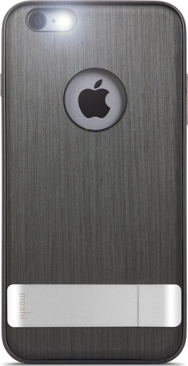 Moshi Kameleon чехол для iPhone 6 Plus/6S Plus, Black99MO080022Утончённый чехол-подставка Kameleon для iPhone от Moshi позволяет с удобством просматривать видео, одновременно обеспечивая стильную защиту устройства. Гибридная конструкция обеспечивает эффективную защиту от ударов и падений. Ещё более тонкая, чем прежде, алюминиевая подставка обеспечивает возможность устанавливать iPhone как в горизонтальном, так и вертикальном положении, что позволяет просматривать видео без помощи рук. Kameleon разработан для повседневного применения и идеален для потребителей, стремящихся к наилучшему сочетанию функциональности и защиты.ХарактеристикиЭлегантный чехол с прочной алюминиевой подставкой.Защита от падений.Комфортный просмотр видео как в портретном, так и пейзажном режимах.Приподнятые края чехла защищает экран iPhone, когда он лежит дисплеем вниз.Изготовлен из лёгких и прочных материалов.