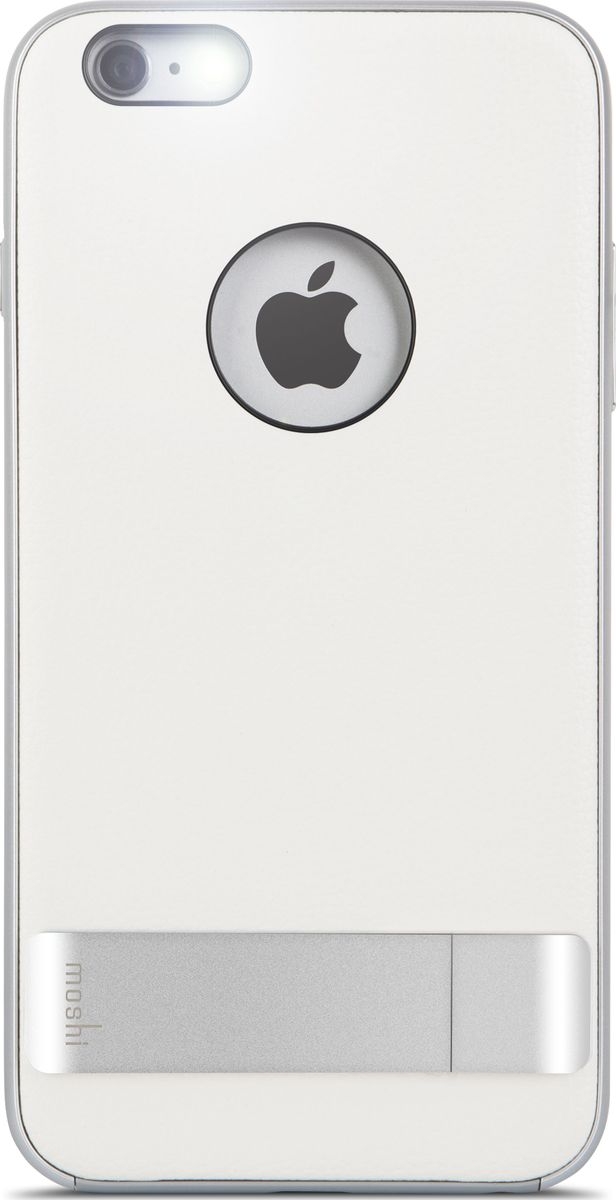 Moshi Kameleon чехол для iPhone 6 Plus/6S Plus, White99MO080101Утончённый чехол-подставка Kameleon для iPhone от Moshi позволяет с удобством просматривать видео, одновременно обеспечивая стильную защиту устройства. Гибридная конструкция обеспечивает эффективную защиту от ударов и падений. Ещё более тонкая, чем прежде, алюминиевая подставка обеспечивает возможность устанавливать iPhone как в горизонтальном, так и вертикальном положении, что позволяет просматривать видео без помощи рук. Kameleon разработан для повседневного применения и идеален для потребителей, стремящихся к наилучшему сочетанию функциональности и защиты.ХарактеристикиЭлегантный чехол с прочной алюминиевой подставкой.Защита от падений.Комфортный просмотр видео как в портретном, так и пейзажном режимах.Приподнятые края чехла защищает экран iPhone, когда он лежит дисплеем вниз.Изготовлен из лёгких и прочных материалов.