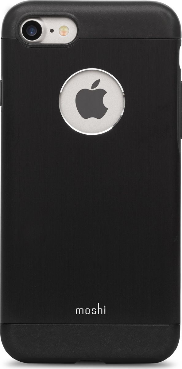 Moshi Armour чехол для iPhone 7/8, Onyx Black99MO088004Элегантный чехол Moshi Armour выполнен из алюминия с алмазной огранкой. Он станет прекрасной защитой для Вашего iPhone 7. Красивый на вид и приятный на ощупь, он только подчеркнет все достоинства и преимущества дизайна iPhone. Завышенные края чехла обеспечивают безопасность экрана, когда iPhone лежит дисплеем вниз. Чехол повторяет все линии iPhone 7 в своей особой манере, при этом защищая заднюю часть корпуса и его боковые грани.ХарактеристикиАлюминий премиум класса с алмазной обработкой.Основной каркас чехла состоит из поликарбоната, который защищает находящийся внутри телефон от ударов и повреждений.Полная защита кнопок регулировки громкости и питания.Завышенные края чехла обеспечивают безопасность экрана, когда iPhone лежит дисплеем вниз.??????Обеспечивает защиту от падения согласно оборонным стандартам США (MIL-STD-810G, SGS-certified).