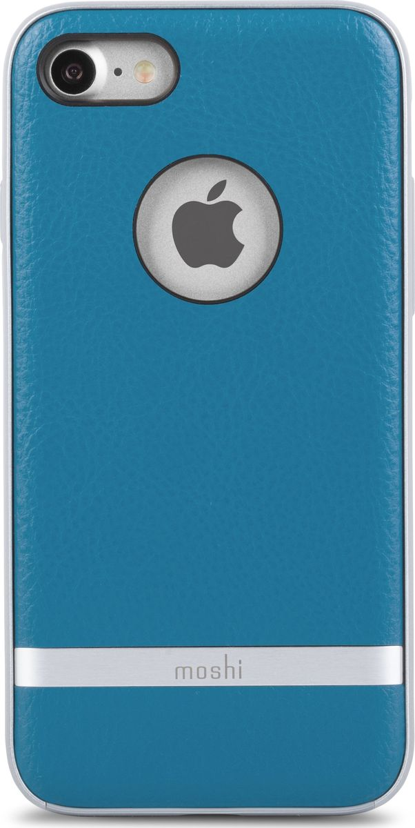 Moshi Napa чехол для iPhone 7/8, Marine Blue чехол для iphone moshi iglaze napa charcoal black 99mo090003
