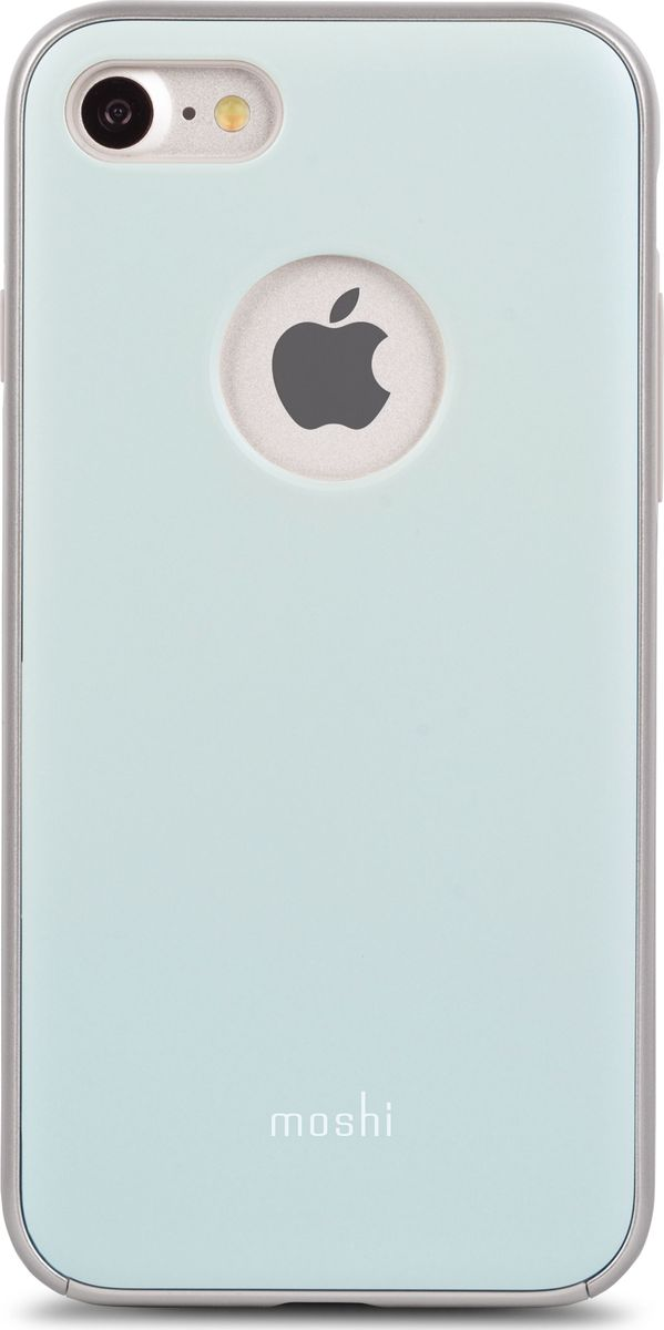 Moshi iGlaze чехол для iPhone 7/8, Powder Blue чехол для iphone moshi iglaze napa charcoal black 99mo090003
