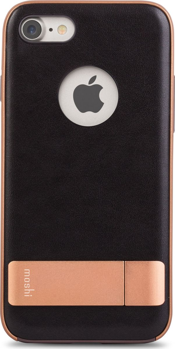 Moshi Kameleon чехол для iPhone 7/8, Imperial Black99MO089001Чехол с подставкой Kameleon для iPhone от Moshi позволяет с удобством просматривать видео, одновременно обеспечивая стильную защиту устройства. Мягкая внутренняя подкладка из микрофибры обеспечивает защиту устройства на уровне оборонных стандартов США, а прошедшая тесты гибридная конструкция обеспечивает эффективную защиту от ударов и падений. Ещё более тонкая, чем прежде, алюминиевая подставка обеспечивает возможность устанавливать iPhone как в горизонтальном, так и вертикальном положении, что позволяет просматривать видео без помощи рук. Kameleon разработан для повседневного применения и идеален для тех, кто стремится к наилучшему сочетанию функциональности и защиты.ХарактеристикиЭлегантный чехол с прочной алюминиевой подставкой.Защита от падений по оборонным стандартам США (MIL-STD-810G, сертифицирован по SGS).Комфортный просмотр видео как в портретном, так и пейзажном режимах.Приподнятые края чехла защищают экран iPhone, когда он лежит дисплеем вниз.Изготовлен из лёгких и прочных материалов.