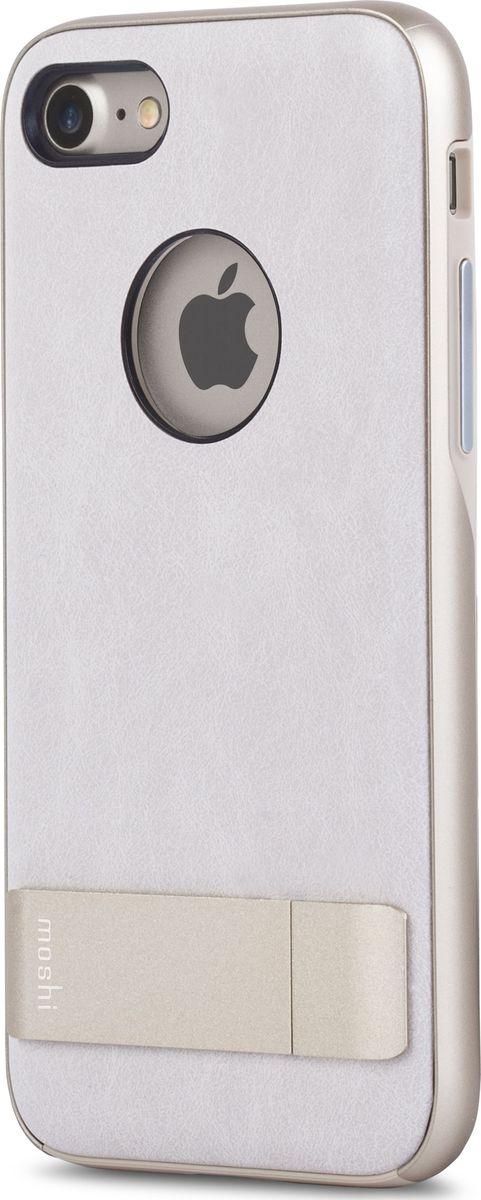 Moshi Kameleon чехол для iPhone 7/8, Ivory White99MO089101Чехол с подставкой Kameleon для iPhone от Moshi позволяет с удобством просматривать видео, одновременно обеспечивая стильную защиту устройства. Мягкая внутренняя подкладка из микрофибры обеспечивает защиту устройства на уровне оборонных стандартов США, а прошедшая тесты гибридная конструкция обеспечивает эффективную защиту от ударов и падений. Ещё более тонкая, чем прежде, алюминиевая подставка обеспечивает возможность устанавливать iPhone как в горизонтальном, так и вертикальном положении, что позволяет просматривать видео без помощи рук. Kameleon разработан для повседневного применения и идеален для тех, кто стремится к наилучшему сочетанию функциональности и защиты.ХарактеристикиЭлегантный чехол с прочной алюминиевой подставкой.Защита от падений по оборонным стандартам США (MIL-STD-810G, сертифицирован по SGS).Комфортный просмотр видео как в портретном, так и пейзажном режимах.Приподнятые края чехла защищают экран iPhone, когда он лежит дисплеем вниз.Изготовлен из лёгких и прочных материалов.