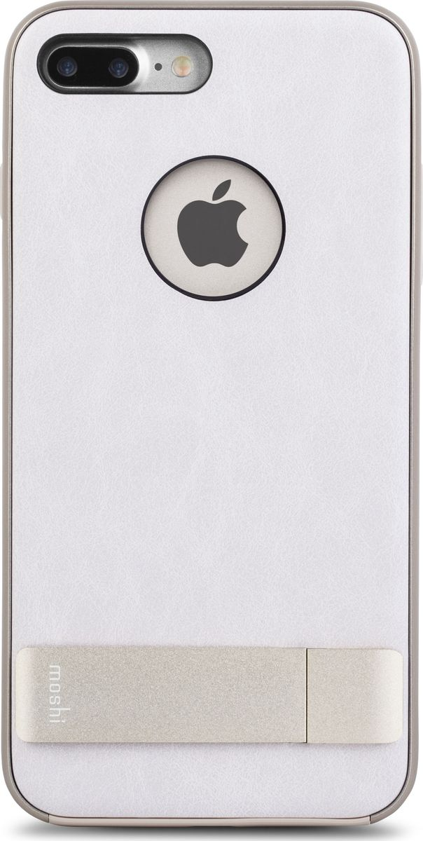 Moshi Kameleon чехол для iPhone 7 Plus/8 Plus, Ivory White99MO089102Чехол с подставкой Kameleon для iPhone от Moshi позволяет с удобством просматривать видео, одновременно обеспечивая стильную защиту устройства. Мягкая внутренняя подкладка из микрофибры обеспечивает защиту устройства на уровне оборонных стандартов США, а прошедшая тесты гибридная конструкция обеспечивает эффективную защиту от ударов и падений. Ещё более тонкая, чем прежде, алюминиевая подставка обеспечивает возможность устанавливать iPhone как в горизонтальном, так и вертикальном положении, что позволяет просматривать видео без помощи рук. Kameleon разработан для повседневного применения и идеален для тех, кто стремится к наилучшему сочетанию функциональности и защиты.ХарактеристикиЭлегантный чехол с прочной алюминиевой подставкой.Защита от падений по оборонным стандартам США (MIL-STD-810G, сертифицирован по SGS).Комфортный просмотр видео как в портретном, так и пейзажном режимах.Приподнятые края чехла защищают экран iPhone, когда он лежит дисплеем вниз.Изготовлен из лёгких и прочных материалов.