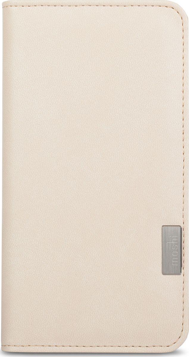 Moshi Overture чехол для iPhone 7/8, Stone White99MO091101Overture - это компактный чехол-бумажник, позволяющий хранить кредитные карты, деньги и iPhone. Чехол сделан из водоотталкивающей веган кожи и внутри дополнен мягкой подкладкой из микрофибры Terahedron, делая чехол приятным на вид и ощупь, одновременно обеспечивая защиту Вашего устройства. Жёсткий каркас бумажника обеспечивает защиту устройства при падении по оборонным стандартам. Сохранен свободный доступ ко всем кнопкам и камере, нет необходимости доставать iPhone, когда вы хотите сделать снимок или снять видео со вспышкой. Лёгким движением, Overture превращается в удобную подставку для просмотра видео или работы в интернете. Внутри чехла присутствует съемная моющаяся подушечка Neato для очистки экрана, которая позволит всегда сохранять сенсорный экран очищенным от отпечатков пальцев и разводов.ХарактеристикиЗащита от ударов и царапин на 360 градусов.Удобная подставка для просмотра видео.3 кармашка для карт и 1 карман во всю длину для дополнительного хранения документов или наличных денег.Свободный доступ ко всем кнопкам и камере.Съемная моющаяся подушечка Neato для очистки экрана.Защита от ударов при падении по оборонным стандартам США (MIL-STD-810G, сертифицировано SGS).Поддерживает беспроводную зарядку.