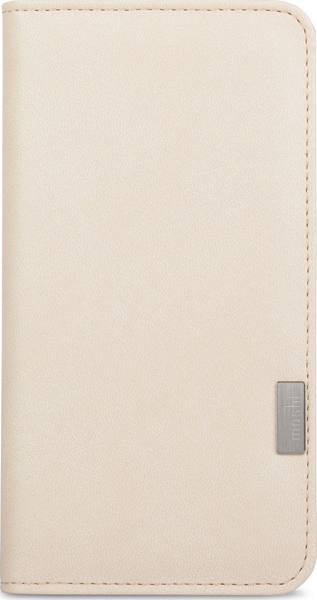 Moshi Overture чехол для iPhone 7 Plus/8 Plus, Stone White99MO091102Moshi Overture - это бумажник в виде чехла-книжки из веган кожи, позволяющий хранить кредитные карты, деньги и iPhone в одном месте. Этотэлегантный чехол состоит из всепогодных и прочных материалов снаружи, мягкой подкладки из микрофибры Terahedron внутри и ударостойкогокаркаса. Нет необходимости доставать iPhone, когда вы хотите сделать снимок или снять видео со вспышкой: сохранен свободный доступ ковсем кнопкам и камере. Лёгким движением, Moshi Overture превращается в удобную подставку для просмотра видео или работы в интернете.Внутри чехла присутствует съемная моющаяся подушечка Neato для очистки экрана, которая позволит всегда сохранять сенсорный экраночищенным от отпечатков пальцев и разводов. Имеется 3 кармашка для карт и 1 карман в полную длину чехла для дополнительного хранениядокументов или наличных денег.