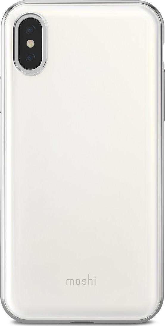Moshi iGlaze чехол для iPhone X, White99MO101101iGlaze от Moshi для iPhone X - чехол с гибридной конструкцией, которая сочетает в себе дизайн, функциональность и защиту при падениях. Ударостойкий чехол доступен в трех цветах: Черный, поверхность которого выглядит как отшлифованный метал; Розовый и Жемчужный Белый, структура которых выглядит как стекло, имитируя прозрачную заднюю часть Вашего iPhone. Новый ударостойкий каркас чехла создан с использованием запатентованного компанией Moshi процесса испарения металлов, обеспечивает элегантную, блестящую поверхность, которая является одновременно стильной и защитной. Привлекательный iGlaze защищает Ваш iPhone от царапин и ударов, а также поддерживает беспроводную зарядку Вашего устройства. Специальное покрытие поверхности защищает от истирания, нагрева и изгиба, чтобы Ваш чехол сохранял свой блеск на протяжении долгого времени. ???Приподнятые края защищают экран iPhone, когда он лежит экраном вниз, также, сохранен свободный доступ ко всем кнопкам и камере. Эволюционный, в плане выбора материалов и отделки, iGlaze обеспечивает первоклассный стиль и защищен пожизненной гарантией.ХарактеристикиСверхтонкий чехол с противоударной защитой, соответствующей оборонным стандартам.Полимер сопротивляется ???истиранию, нагреву и изгибу.???Все кнопки полностью защищены.???Гибридная конструкция, доступная в разных цветах.???Приподнятые края защищают экран iPhone, когда он лежит экраном вниз.Поддерживает беспроводную зарядку.