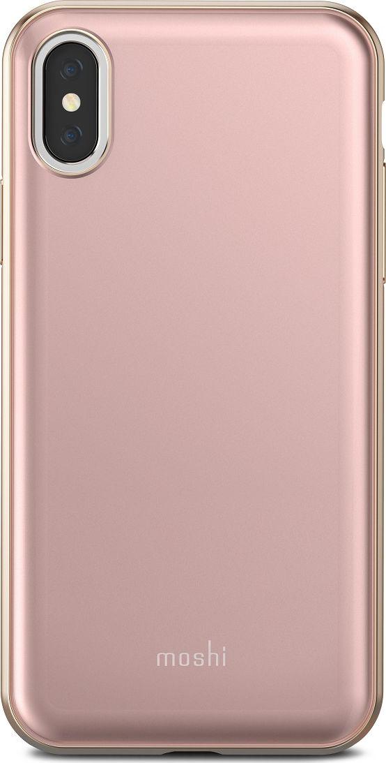 Moshi iGlaze чехол для iPhone X, Pink99MO101301Moshi iGlaze - чехол с гибридной конструкцией, которая сочетает в себе дизайн, функциональность и защиту при падениях. Новый ударостойкий каркас чехла создан с использованием запатентованного компанией Moshi процесса испарения металлов, обеспечивает элегантную, блестящую поверхность, которая является одновременно стильной и защитной. Привлекательный iGlaze защищает ваш iPhone от царапин и ударов, а также поддерживает беспроводную зарядку вашего устройства. Специальное покрытие поверхности защищает от истирания, нагрева и изгиба, чтобы ваш чехол сохранял свой блеск на протяжении долгого времени. Приподнятые края защищают экран iPhone, когда он лежит экраном вниз, также, сохранен свободный доступ ко всем кнопкам и камере. Эволюционный, в плане выбора материалов и отделки, iGlaze обеспечивает первоклассный стиль и защищен пожизненной гарантией.